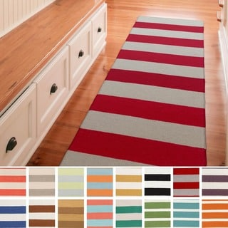 Clearwater Flatweave Striped Runner (2'6 x 8')