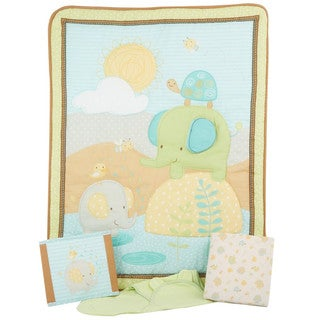 Summer Infant SwaddleMe Elephant Splash 4-piece Crib Bedding Set