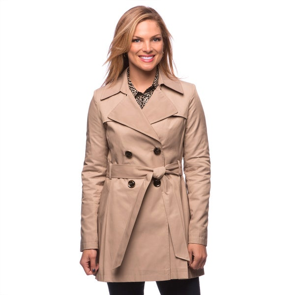 Via Spiga Women's Water-resistant Belted Trench Coat