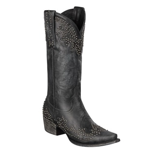 Lane Boots Women's 'Stephanie' Black Leather Cowboy Boots