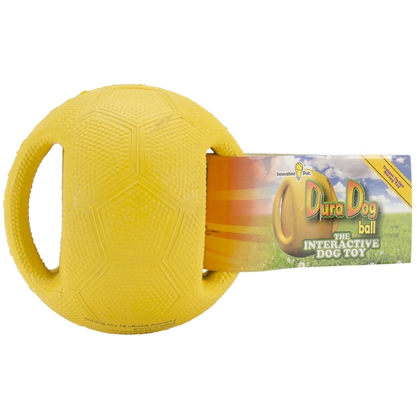 DuraDogBall Interactive Grip Ball Small-Yellow