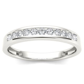 De Couer 14k White Gold 1/4ct TDW White Diamond Wedding Band (H-I, I2)