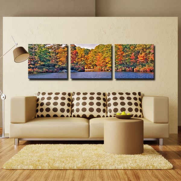 Bruce Bain 'Autumn Lake' Canvas Wall Art