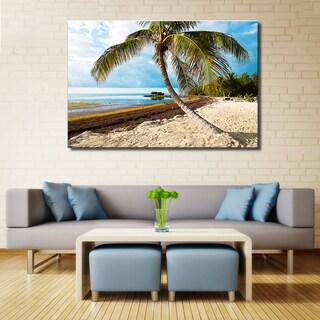 Bruce Bain 'Beach Palm II' Canvas Wall Art