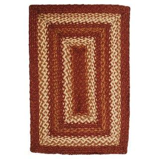 Rusty Gold Jute Braided Rug (4' x 6')