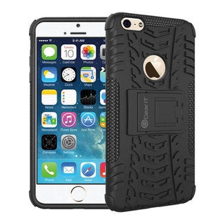 GearIt Trac Series Hybrid Rugged Armor with Kickstand Case Cover for Apple iPhone 6 Plus 5.5-inch
