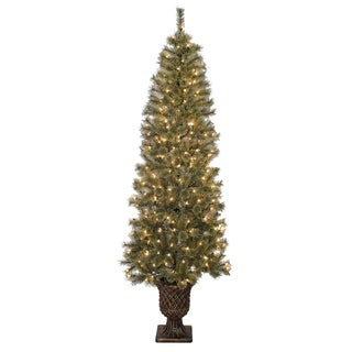 Pre-lit Artificial Christmas Tree with Urn Base
