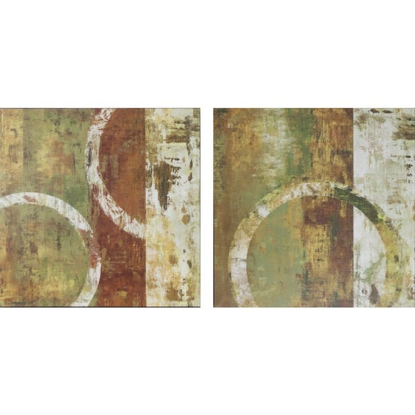 Peeling Paint Design Canvas Art (Set of 2)