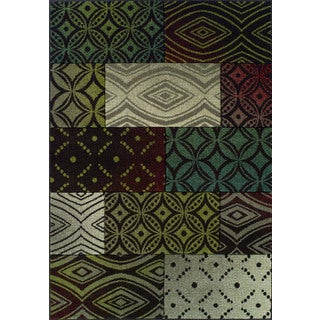 Glow Multi Color Rectangular Rug (7'10 x 10')