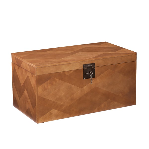 Upton Home Tifton Tavern Brown Coffee And Cocktail Trunk Table 16678132 Overstock Shopping