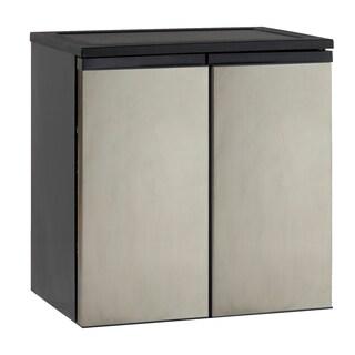 Avanti Stainless Steel 5.5-cubic Foot Side-by-Side Refrigerator/ Freezer Combo