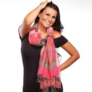 Samita Magenta Stripes Scarf