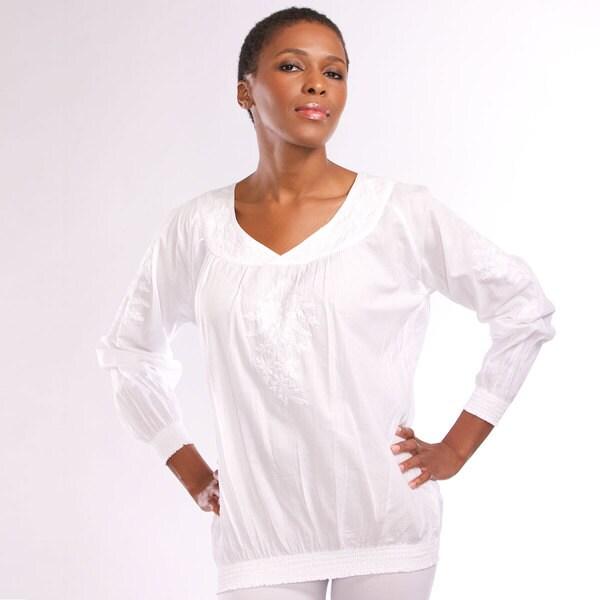 Pramila White Embroidered Tunic