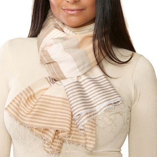 Samita Tan Stripes Scarf
