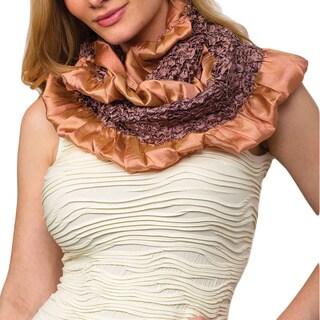 Kalinda Copper Silk Infinity Scarf