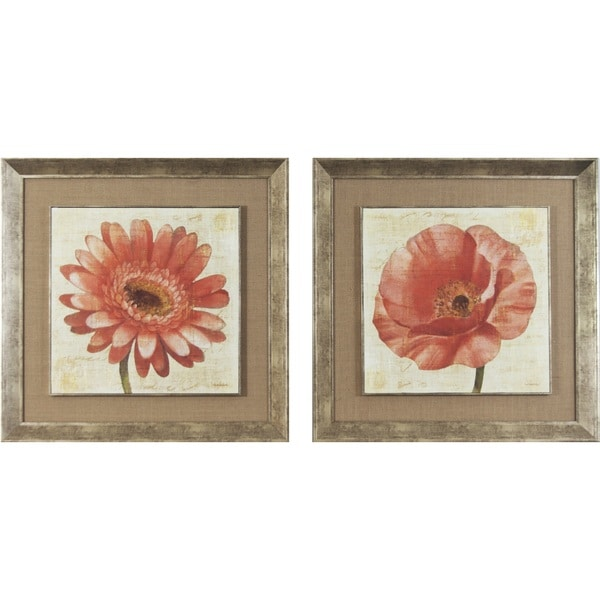 Blushing Florals on Cream Framed Print Art