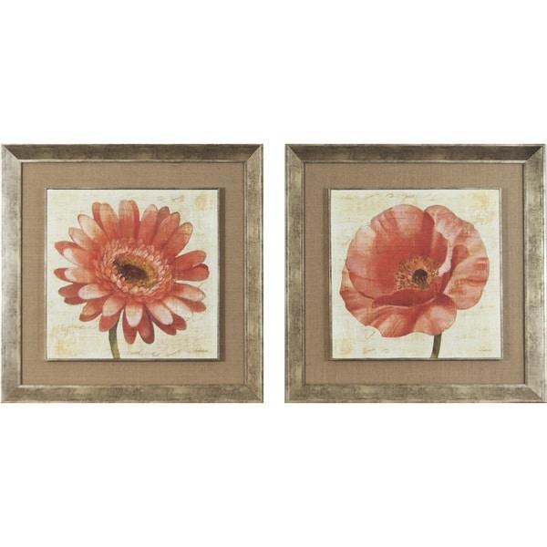 Blushing Florals on Cream Framed Print Art