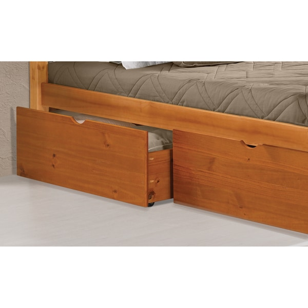 white wooden under bed drawers 2