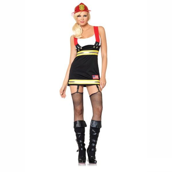 Leg Avenue Women's 'Backdraft Babe' Garter Dress Costume Set