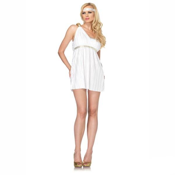 Leg Avenue Women's 'Goddess Athena' 2-piece Asymmetrical Toga Dress Costume