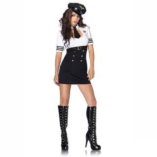 Leg Avenue Women's 'First Class Captain' 2-piece Keyhole Dress Costume