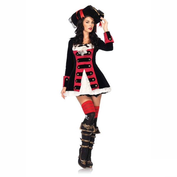 Leg Avenue Women's 'Charming Pirate Captain' Velvet Layered Waistcoat Dress