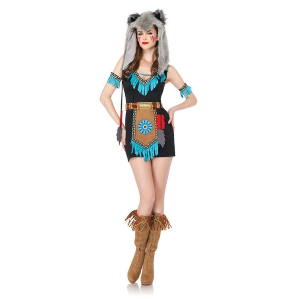 Leg Avenue Women's 4-piece Wolf Warrior Dress