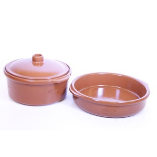 Elegant 2 Piece Spanish Terracotta Cookware Set