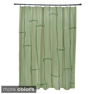 71 x 74-inch Earthtone Bamboo Print Shower Curtain