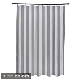 71 x 74-inch Striped Shower Curtain