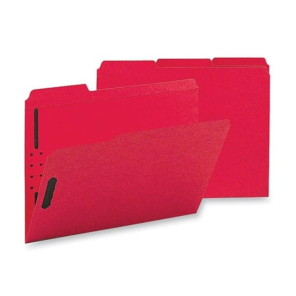 Sparco Colored Ltr Fastener Folders with 2-ply Tab (Box of 50)
