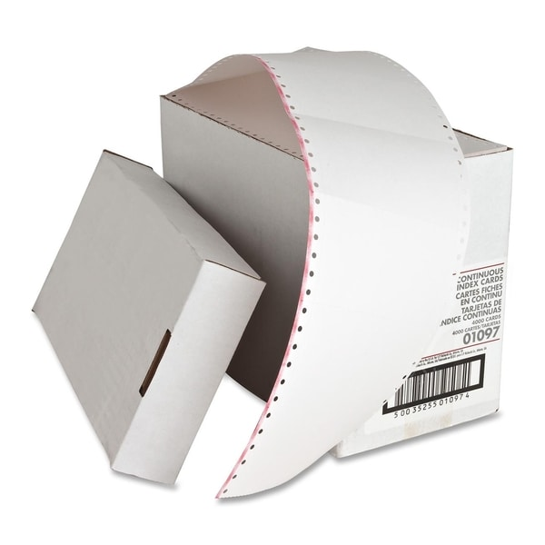 Sparco Continuous Feed Punched Index Cards (Carton of 4000)