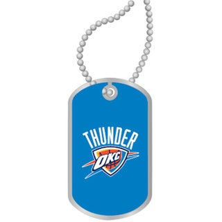 NBA OKC Oklahoma City Thunder Dog Tag Necklace Charm Gift Set