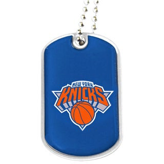 NBA New York Knicks Dog Tag Necklace Charm Gift Set