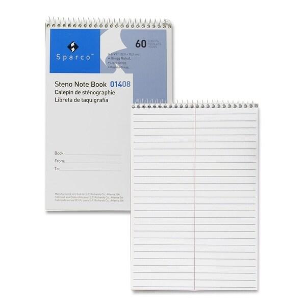 Sparco Steno White Stiff-back Notebook