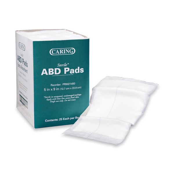 Medline Caring Sterile Abdominal Pads (Pack of 25)