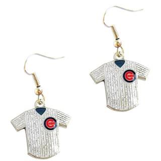 MLB Chicago Cubs Glitter Jersey Earrings Gift Set