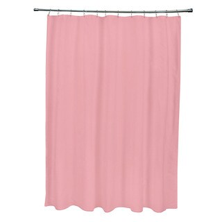 Pink shower curtains overstock shopping vibrant fabric for Plain pink shower curtain