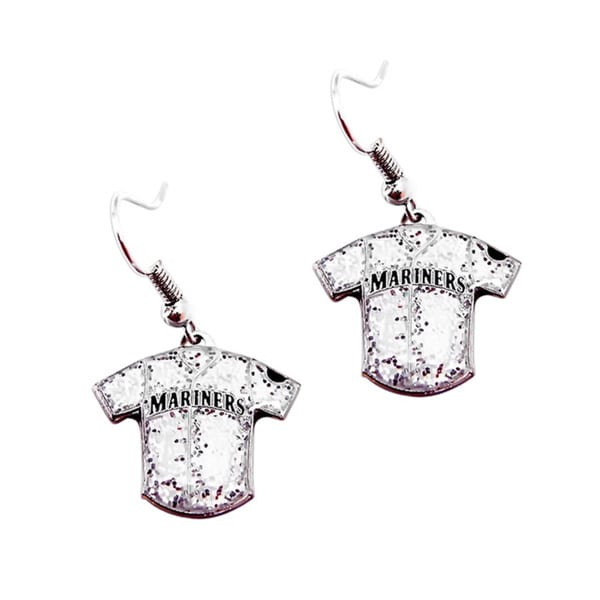 MLB Seattle Mariners Glitter Jersey Earrings Gift Set