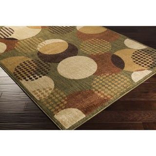 Artfully Crafted Abby Dots Polypropylene Area Rug (5'3 x 7'3)