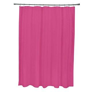 71 x 74-inch Fuchsia Solid Shower Curtain