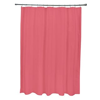 71 x 74-inch Dark Coral Solid Shower Curtain
