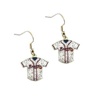 MLB Atlanta Braves Glitter Jersey Earrings Gift Set