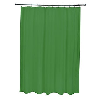 71 x 74-inch Dark Leaf Solid Shower Curtain