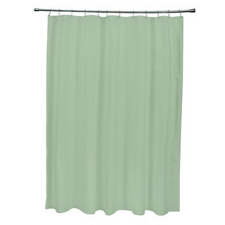 71 x 74-inch Magarita Green Solid Shower Curtain