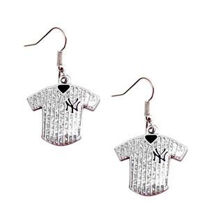 MLB NY Yankees Glitter Jersey Earrings Gift Set