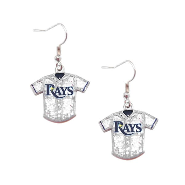 MLB Tampa Bay Rays Glitter Jersey Earrings Gift Set