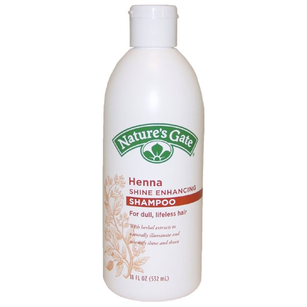 Nature's Gate Henna Shine Enhancing For Dull Lifeless Hair 18-ounce Shampoo