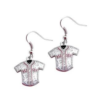 MLB Boston Red Sox Glitter Jersey Earrings Gift Set