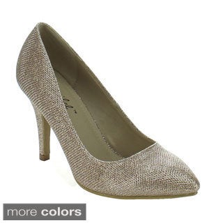 Bonnibel Women's 'Kendra-1' Glitter-woven Dress Pumps